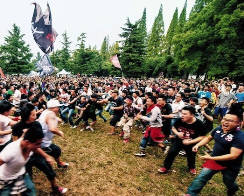 "Chinese ""wall of death"" at Midi Festival."
